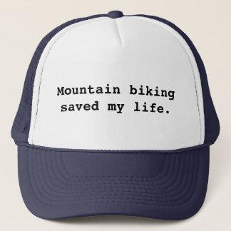 Mountain biking saved my life. trucker hat