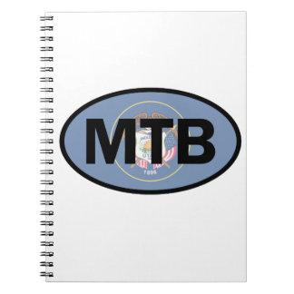 Mountain Biking Utah Flag Spiral Notebook