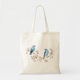 Mountain Bluebirds on Sakura Branch Tote Bag