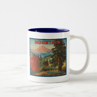 Mountain Brand Duthie and Company Vintage Apple Cr Two-Tone Coffee Mug