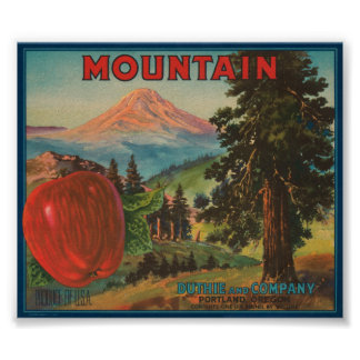 Mountain Brand Duthie and Company Vintage Apple Cr Poster
