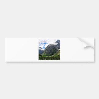 Mountain Busy Clouds New Zealand Bumper Sticker