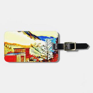 Mountain Cabin Luggage Tag