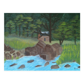Mountain Cabin Postcard