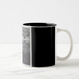 Mountain cabin Two-Tone coffee mug
