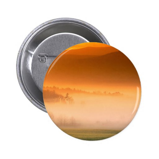 Mountain Cades Cove Sunrise Great Smoky Tenne Pinback Button