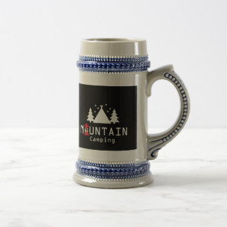 mountain camping beer stein
