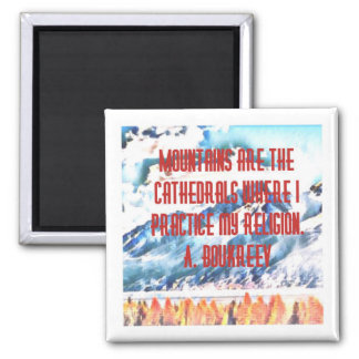 Mountain Cathedrals Magnet