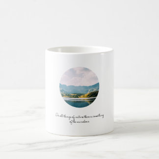 Mountain Circle Photo Inspirational Quote Coffee Mug