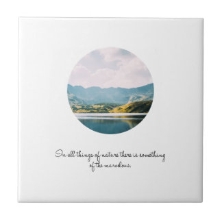 Mountain Circle Photo Inspirational Quote Tile