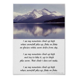 Mountain Climb - Photo-poem, poster