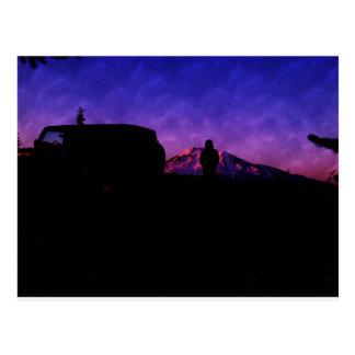 mountain climb postcard