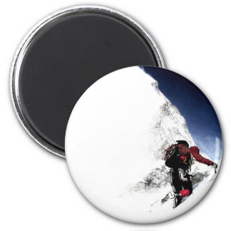 Mountain Climber Extreme Sports 6 Cm Round Magnet