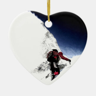 Mountain Climber Extreme Sports Ceramic Ornament