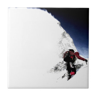 Mountain Climber Extreme Sports Small Square Tile