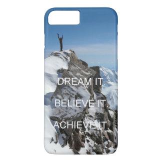 mountain climber motivation inspiration quote iPhone 8 plus/7 plus case