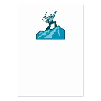 Mountain Climber Summit Retro Business Card Template