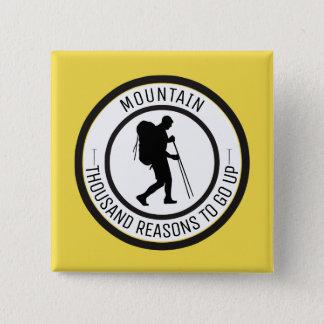 Mountain climbing 15 cm square badge