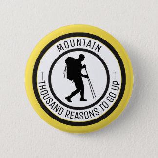 Mountain climbing 6 cm round badge