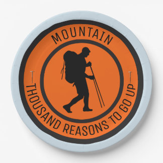 Mountain climbing paper plate