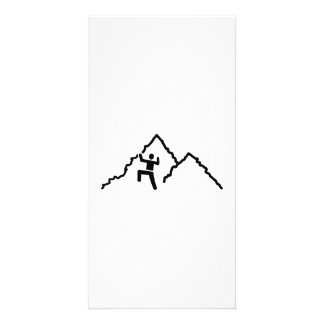 Mountain climbing personalized photo card