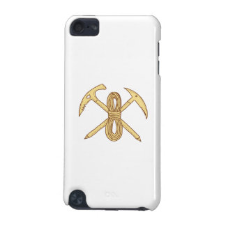 Mountain Climbing Pick Axe Rope Crossed Drawing iPod Touch 5G Cases