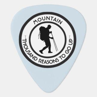 Mountain climbing plectrum