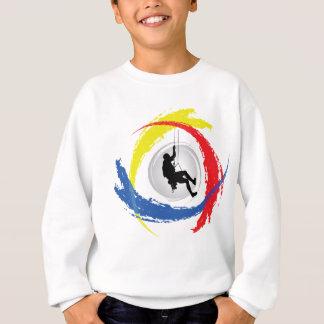 Mountain Climbing Tricolor Emblem Sweatshirt