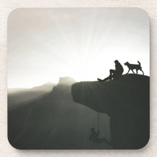 Mountain climbing Yosemite motivation and humor Drink Coasters