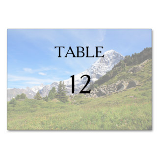 Mountain country wedding Swiss alps Table Cards
