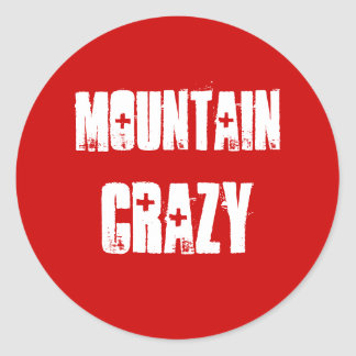 Mountain Crazy Sticker for mountain lovers