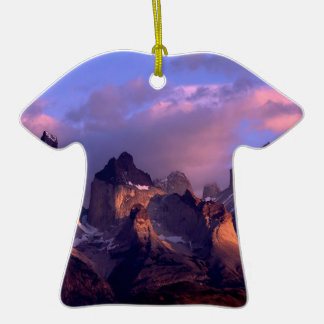 Mountain Cuernos Del Paine Andes Chile Christmas Ornaments