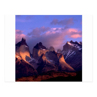 Mountain Cuernos Del Paine Andes Chile Postcard