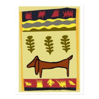Mountain Dachshund Postcard