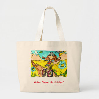 Mountain Diva Biker Tote Jumbo Tote Bag