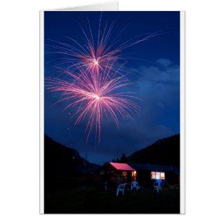 Mountain Fireworks Celebration Card
