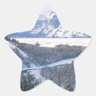 Mountain First Snowfall Snake River Wyom Sticker