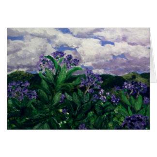 Mountain floral card
