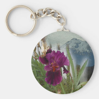 Mountain Flowers Key Ring
