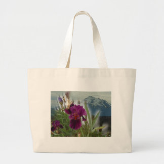 Mountain Flowers Large Tote Bag