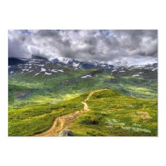 Mountain footpath 13 cm x 18 cm invitation card