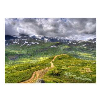 Mountain footpath invitations