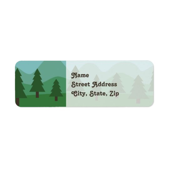 Mountain Forest Return Address Label