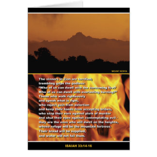 Mountain Fortress Greeting Card