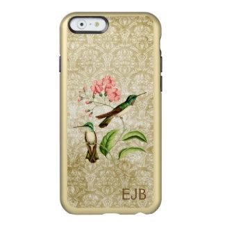 Mountain Gem Hummingbird Damask Monogrammed Incipio Feather® Shine iPhone 6 Case