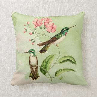 Mountain Gem Hummingbird Watercolor Throw Pillow
