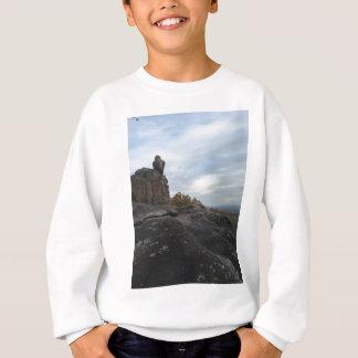 Mountain Girl Sitting On The Edge Sweatshirt
