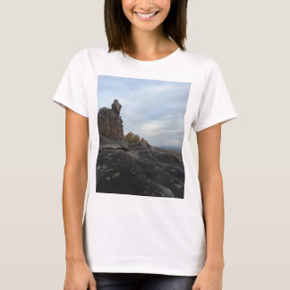 Mountain Girl Sitting On The Edge T-Shirt