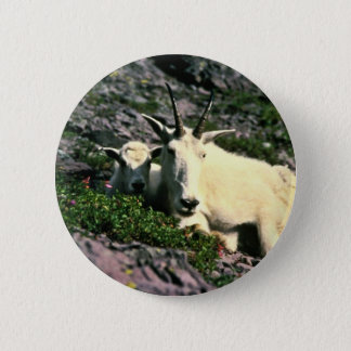 Mountain Goat 6 Cm Round Badge