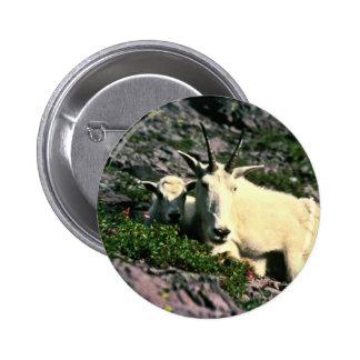 Mountain Goat 6 Cm Round Badge